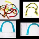 New KINGTRIM Pair of U-Shaped Lucite Plastic Purse  Handle 6 ½ in x 5  Assorted
