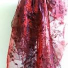 "New Burgundy Ribbon Organza Fabric 60"" Wide, 4-3/4 Yards Lot"