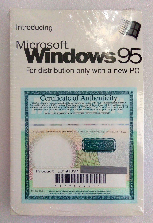 WINDOWS95 WINDOWS 95 W/COA