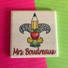 The Fleur-De-Teach Original Personalized Coaster