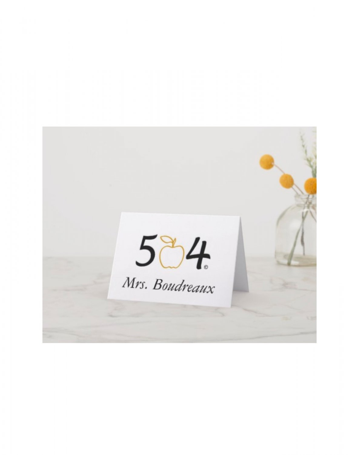 The 504 Teacher Note Cards - Personalized