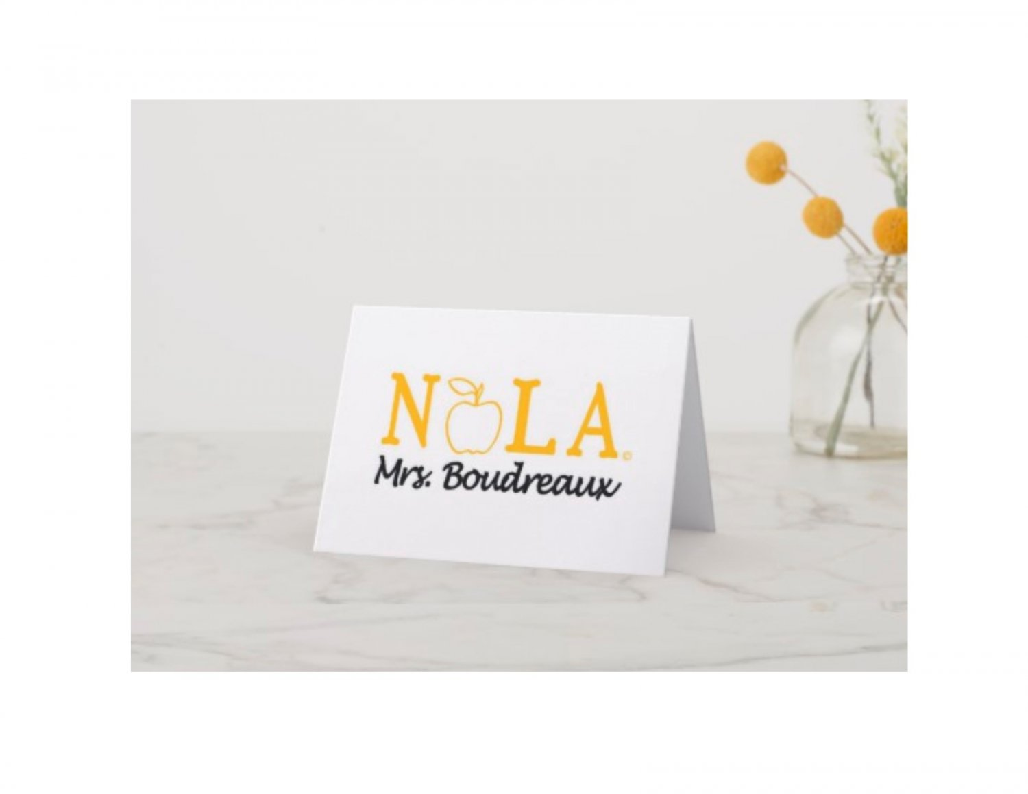 The NOLA Teacher Note Cards Personalized