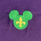 The Krewe of Mouse-de-Lis ADULT LARGE on PURPLE