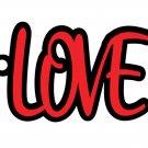 Love Key Chain, Book Mark or Bag Tag