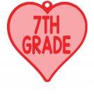 VALENTIVE HEART Key Chain 7TH GRADE
