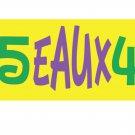 MARDI GRAS 5EAUX4 Adult 2X-LARGE Short Sleeve