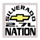 "Silverado Nation 5""x5"" Decal - 2.7L"