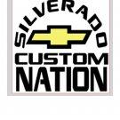 """Silverado Nation 5""""x5"""" Decal - CUSTOM"""