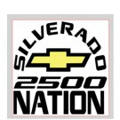 "Silverado Nation 5""x5"" Decal - 2500"