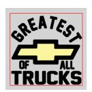 "Silverado Nation 5""x5"" Decal - Black GOAT"
