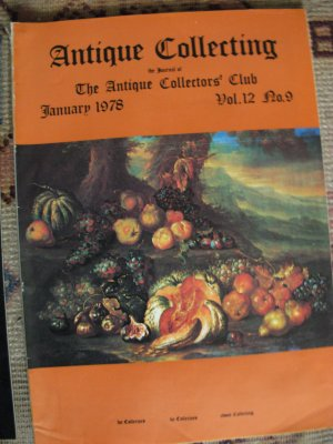 Antique Collecting Vol. 12, No. 9, January 1978
