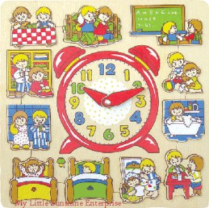 Wooden Puzzle : My Clock