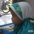 Tudung Kanak-kanak : Putih Hijau