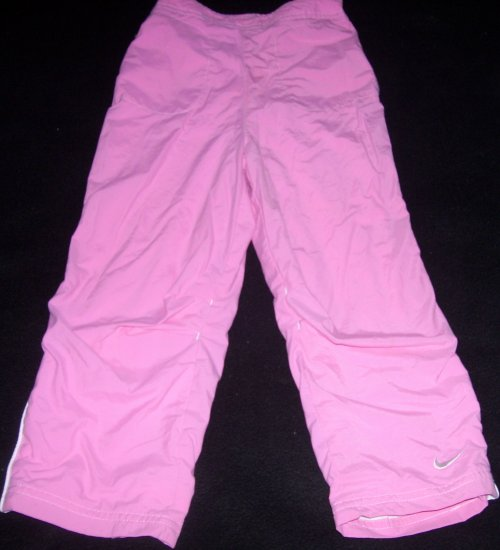Girls 4 5 S NIKE Pink Lined Nylon Athletic Pants