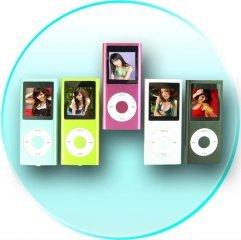 Super-Popular Slim Metal-body MP4 Player, 1.5-inch Screen 4GB