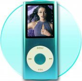 1.8-inch Screen New Style Stainless Metal Shell MP4 Player 4GB