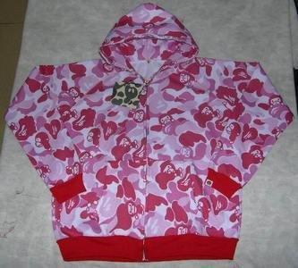 Pink bape hoodie