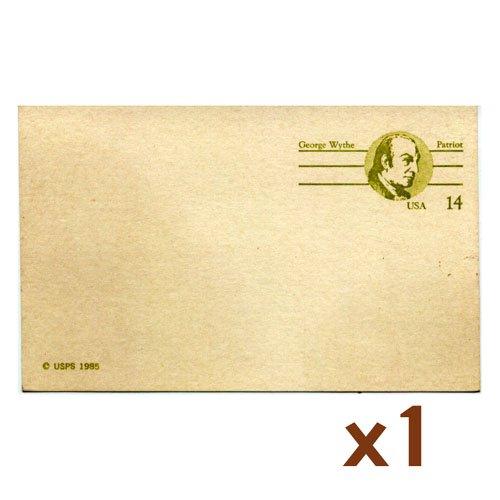 USPS George Wythe Patriot 14-cent postcard (single)