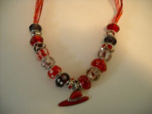 I will Wear My Red Hat Necklace