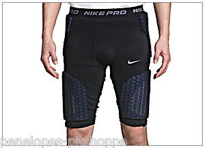 3d0171150 NIKE Pro Combat Black Vis Deflex Padded Compression Basketball Shorts  369261 3XL