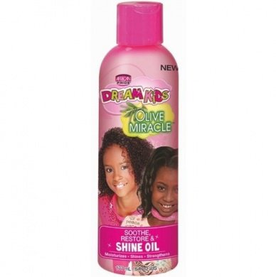 African Pride Dream Kids Olive Miracle Soothe, Restore & Shine Oil 177ml
