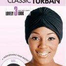 Magic Collection Elastic Hold Flexible Turban Hat 2147BLA