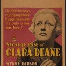 STRANGE CASE OF CLARA DEANE 1932 Wynne Gibson