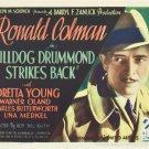 BULLDOG DRUMMOND STRIKES BACK 1934 Loretta Young