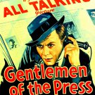 GENTLEMEN OF THE PRESS 1929 Kay Francis