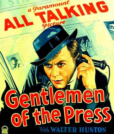GENTLEMEN OF THE PRESS 1929 Kay Francis