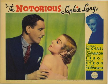 NOTORIOUS SOPHIE LANG 1934 Gertrude Michael