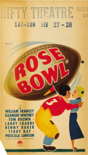 ROSE BOWL 1935 Buster Crabbe