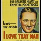 I LOVE THAT MAN 1933 Nancy Carroll