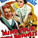 MIND YOUR OWN BUSINESS 1936 Charles Ruggles