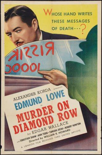 MURDER ON DIAMOND ROW 1937 Edmund Lowe