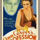 ANN CARVER'S PROFESSION 1933 Fay Wray