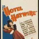 HOTEL HAYWIRE 1937 Leo Carrillo