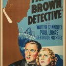 FATHER BROWN DETECTIVE 1934 Walter Connolly