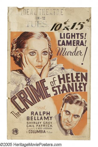 CRIME OF HELEN STANLEY 1934 Shirley Grey