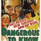 DANGEROUS TO KNOW 1938 Anna May Wong