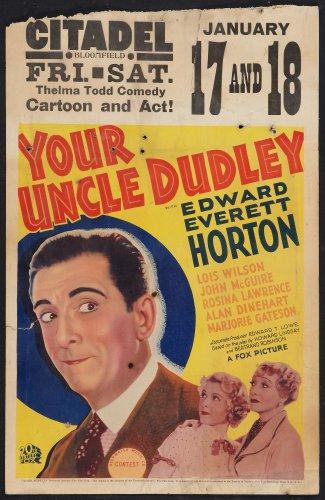 YOUR UNCLE DUDLEY 1935 Edward Everett Horton
