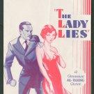 LADY LIES 1929 Claudette Colbert