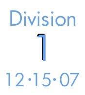12-15-07: Division 1