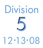 Division 5: 12-13-08