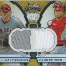 2011 Bowman Sterling Dual Relics Gold Refractors #TC Mark Trumbo/Hank Conger # 12/50