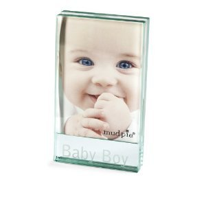 Baby Boy Clear Glass Photo Picture Frame