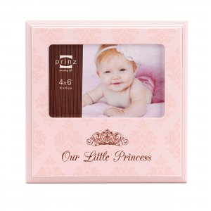 Our Little Princess Pink Argyle Baby Photo Wood Picture Frame