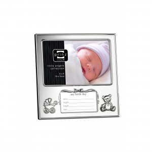 'Just Arrived' Silver Plated Metallic Newborn Baby Photo Picture Frame