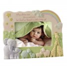 Noah's Ark Baby Girl Blessing Stoneware Photo Frame