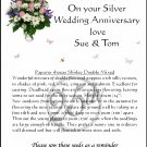 Personalised Silver Anniversary Flower Seeds Gift